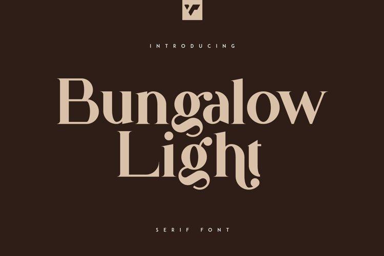 Bungalow Light Font