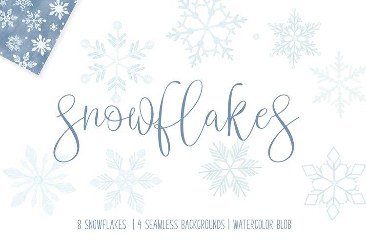 SNOWFLAKE BUNDLE - snowflake clip art and digital paper