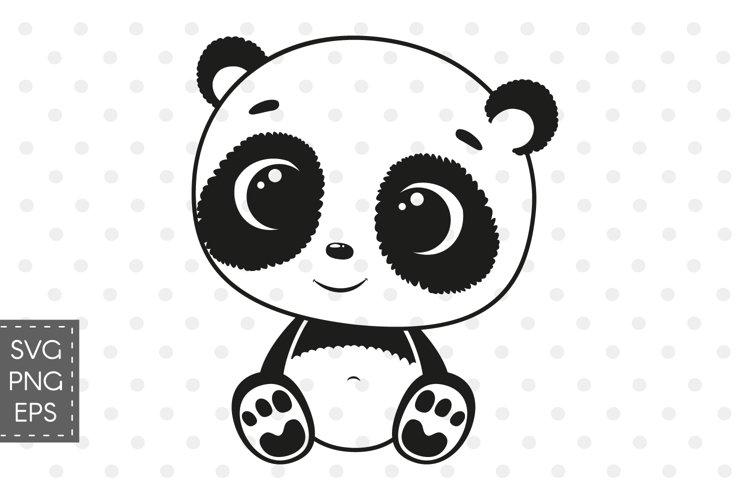 Cute baby panda SVG, PNG, EPS example image 1
