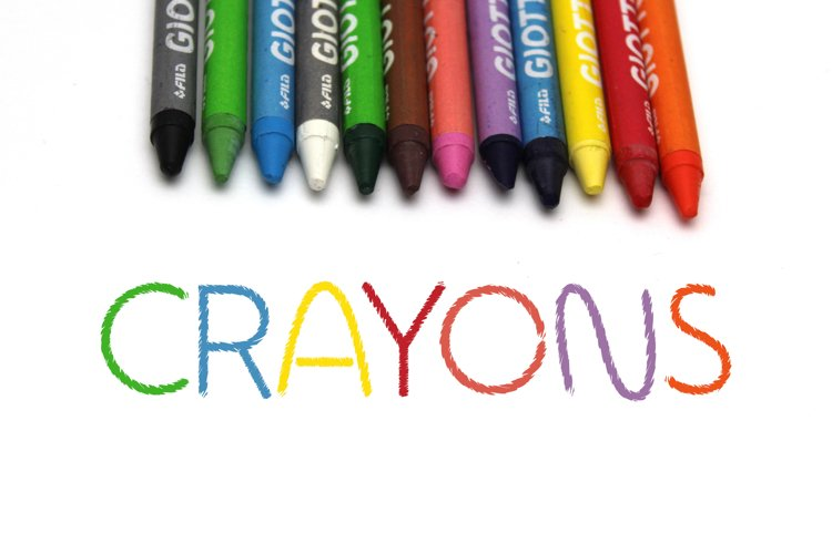 Crayons Sketch Font example image 1