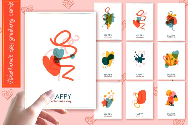 Valentine's day cards 9 pieces example image 1