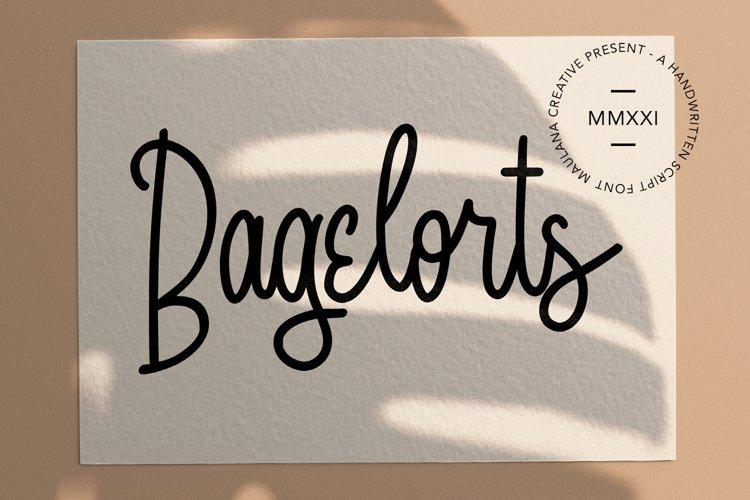 Bagelorts Handwritten Script Font example image 1