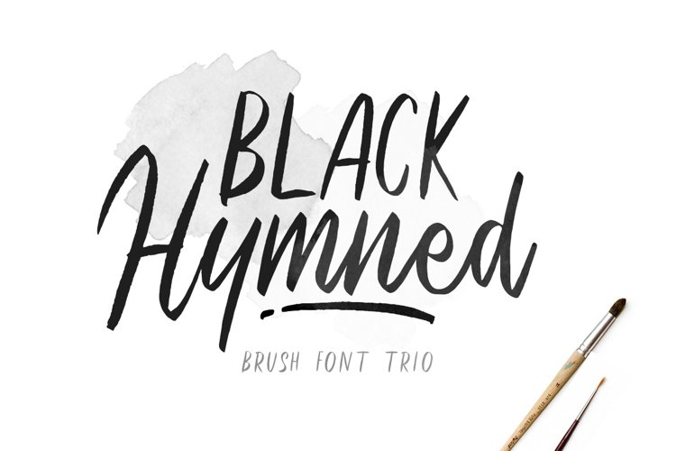 Black Hymned - Font Trio example image 1