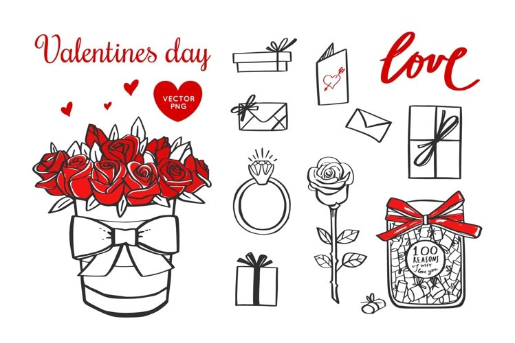 Valentines day svg illustration bundle example image 1