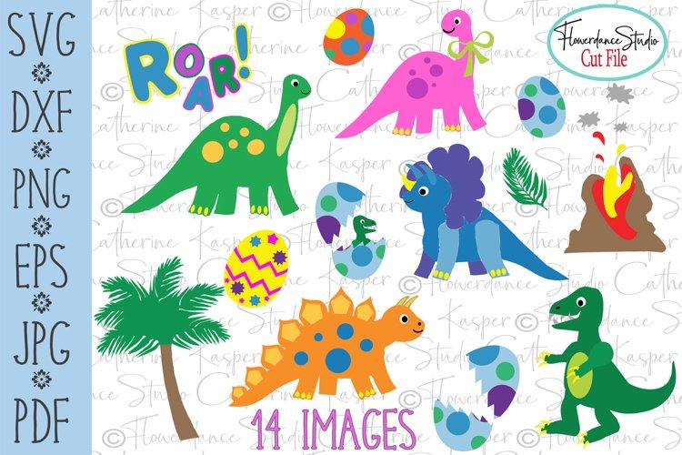 Dinosaur Big Bundle - SVG, DFX Cut Files, PNG, EPS Clipart example image 1