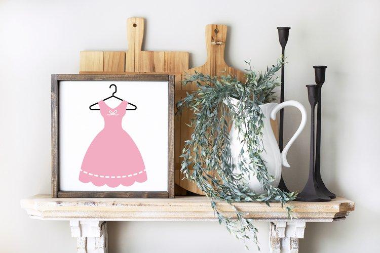 Vintage Dress on Hanger SVG File