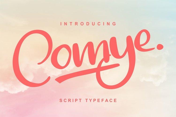 Comye | Script Typeface Font example image 1