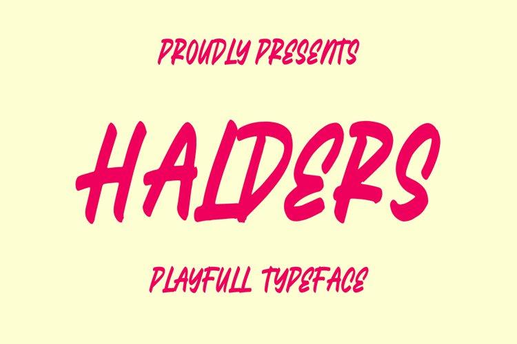 Halders - Playfull Typeface example image 1