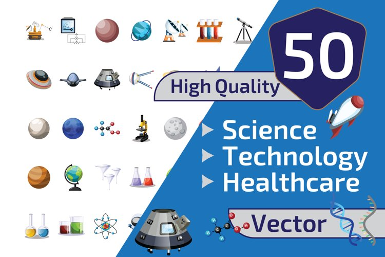 50x Science and Technology illustration collection example image 1