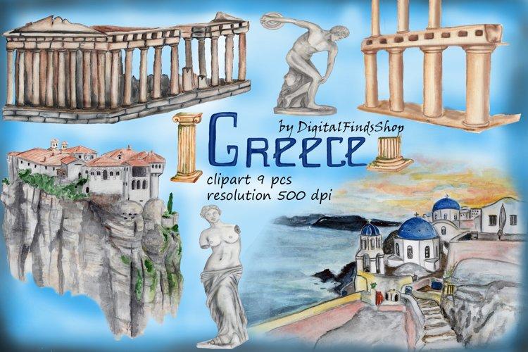 Travel clipart greek, greeke letters clipart, greek statue