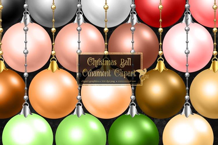 Christmas Ball Ornaments Clipart