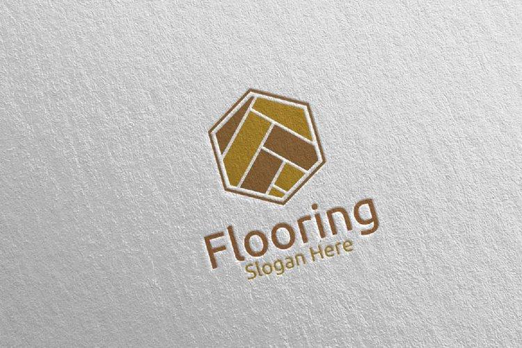 Flooring Parquet Wooden Logo 10 example image 1