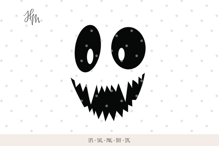 Funny Pumpkin face cut file SVG DXF EPS PNG JPG example image 1