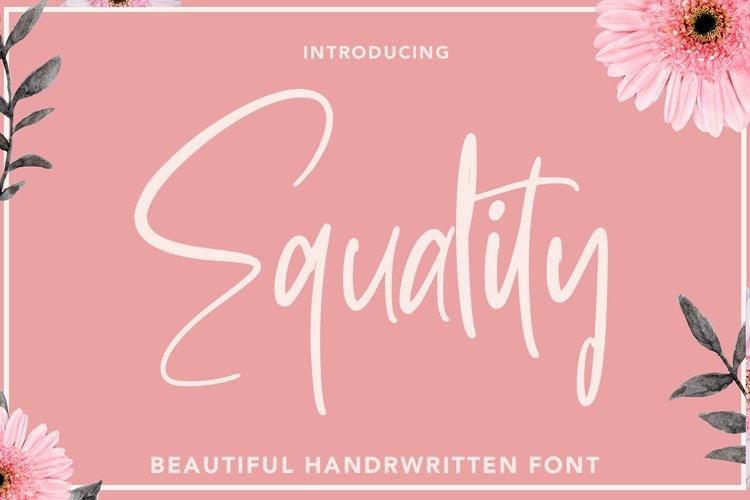 Equatily - Monoline Font