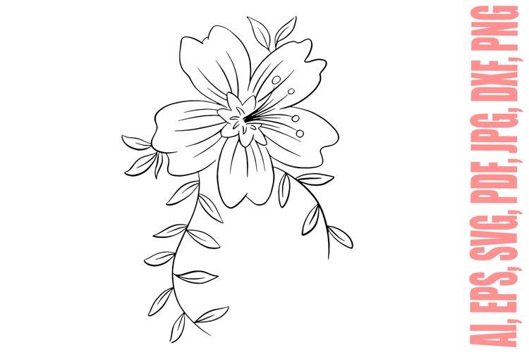 Flower Bouquet Floral Boquet Line Art Illustration SVG