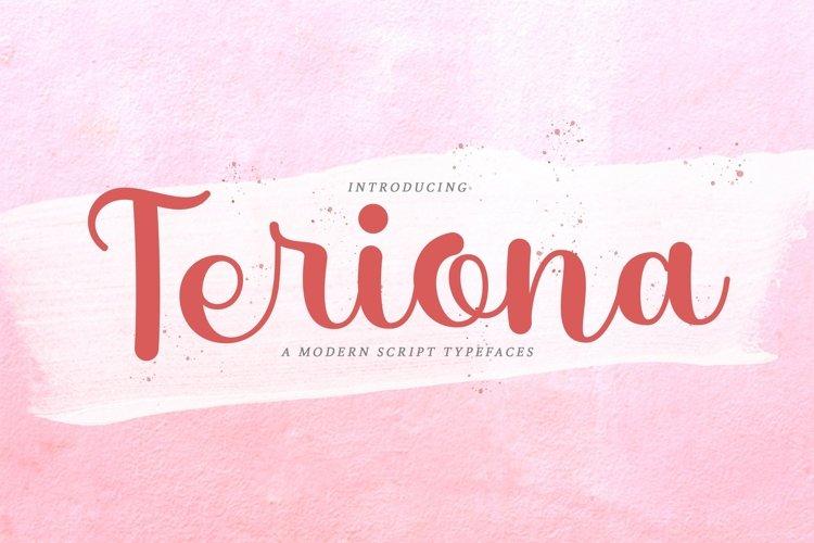 Web Font Teriona