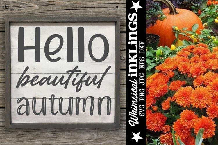 Hello Beautiful Autumn SVG example image 1