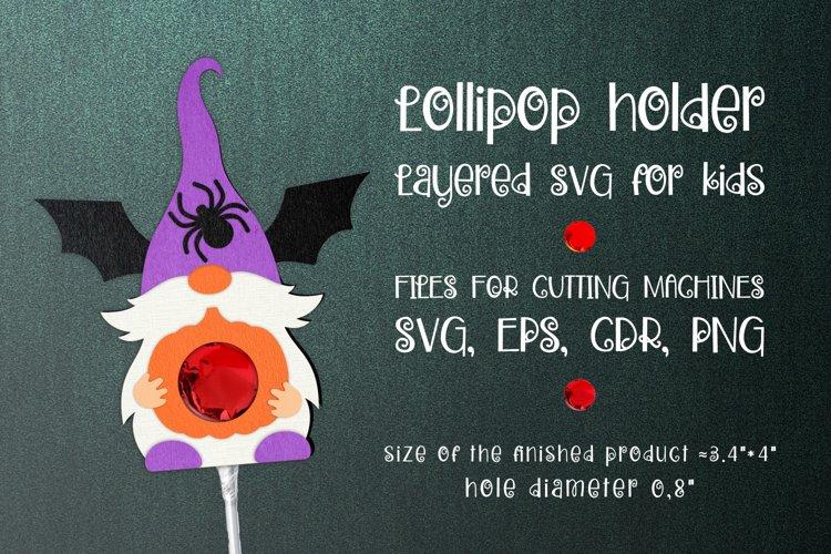 Halloween Gnome Lollipop Holder SVG
