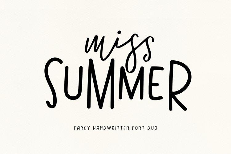 Miss Summer - Handwritten Font Duo example image 1