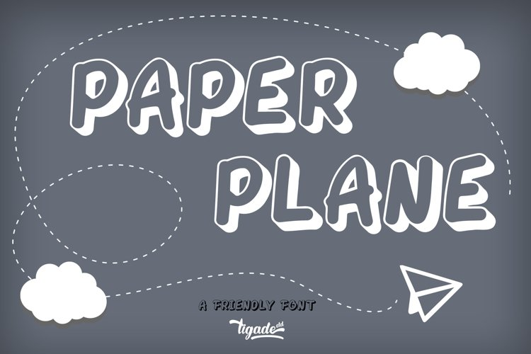 Paper Plane Webfont example image 1