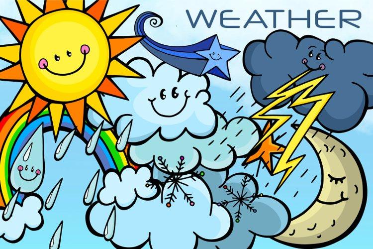 Happy Sky Weather Seasonal Climate Illustrations example image 1