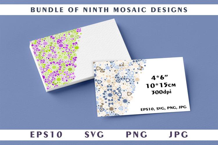 Bundle of ninth mosaic designs