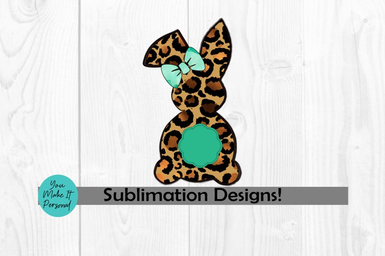 Leopard Bunny with Monogram Frame