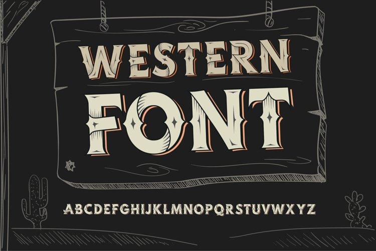 Western OTF vintage label font. Uppercase only! example image 1