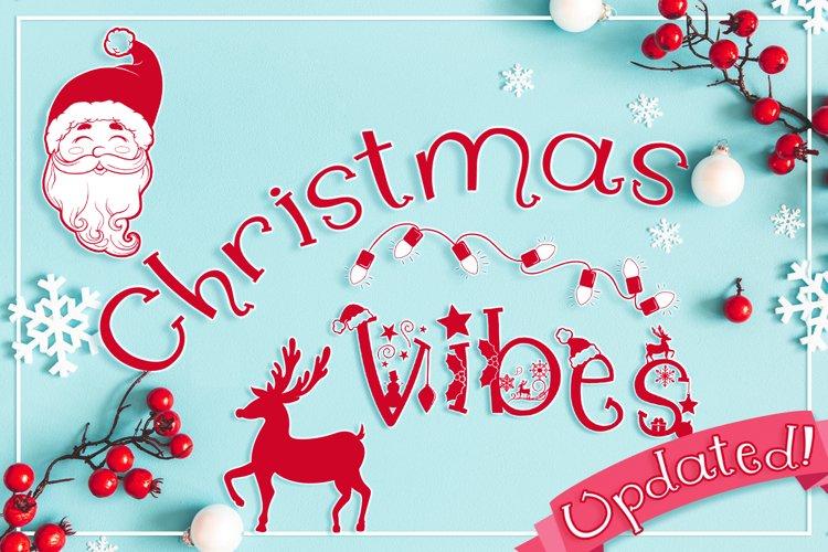 Christmas Font   Whimsical Christmas Vibes example image 1