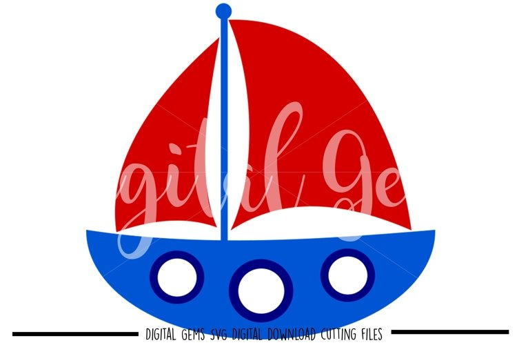 Boat SVG / PNG / EPS / DXF files example image 1