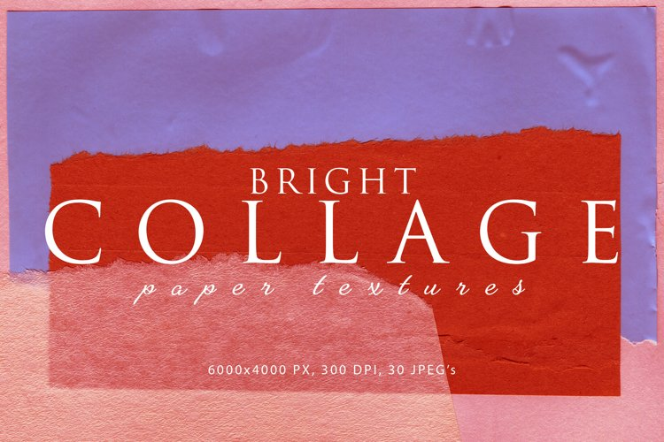Bright Collage Paper Textures 1 example image 1
