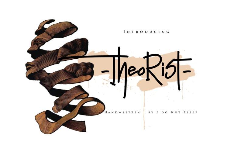 Theorist Font example image 1