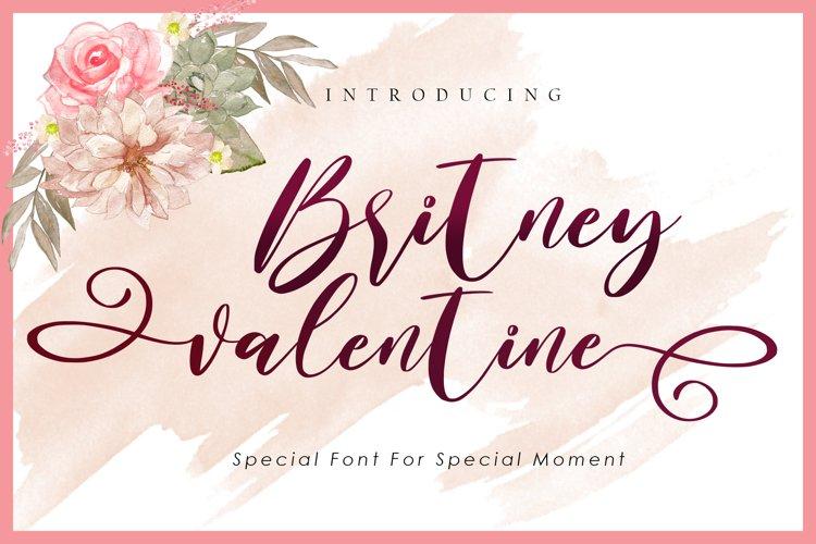 Britney Valentine - WEB FONT example image 1