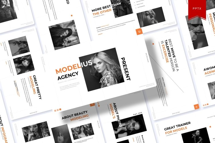 Modelius | Powerpoint Template example image 1