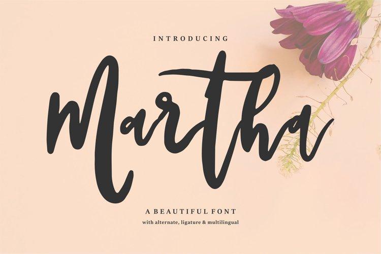 Martha | A Beautiful Font example image 1