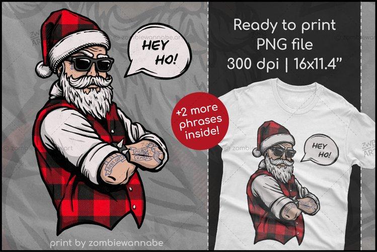 Buffalo Plaid Santa for Sublimation, Christmas Design example image 1