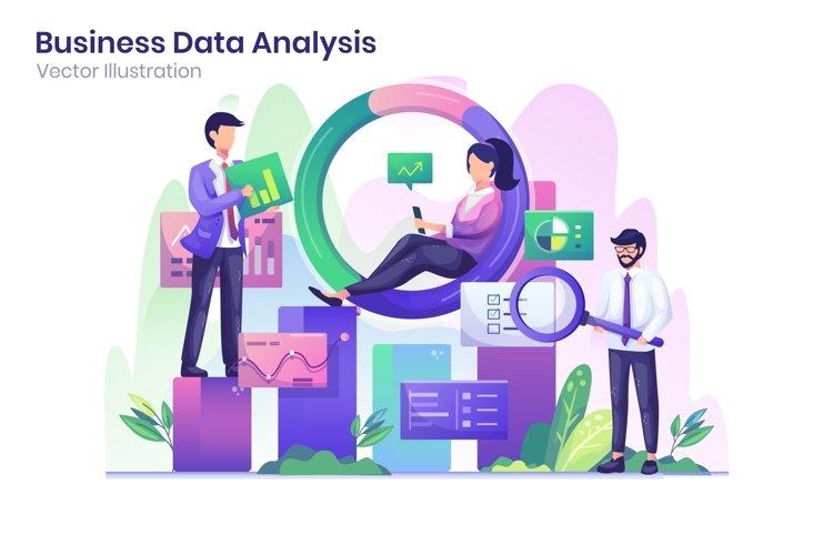 Business Data Analysis concept flat illustration