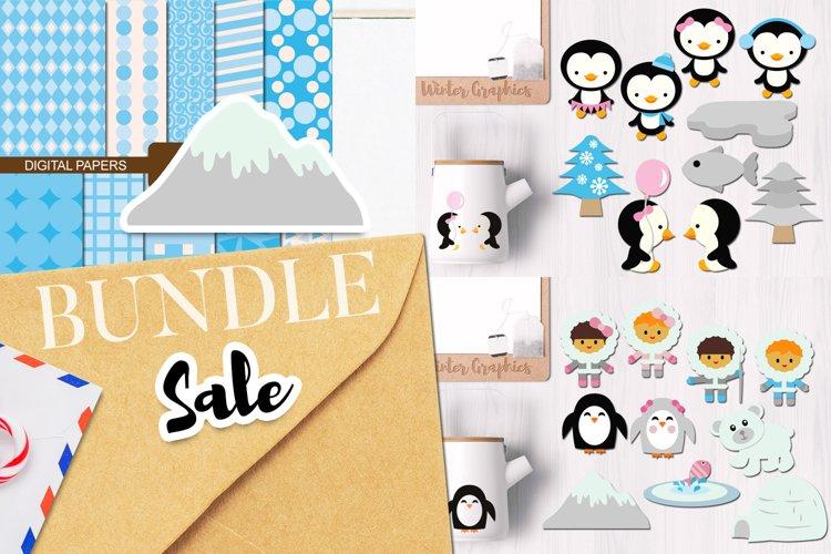 Penguins - Winter Illustrations Bundle
