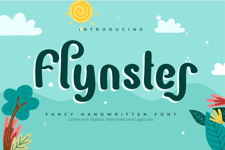 Flynster | Fancy Handwritten Font example image 1