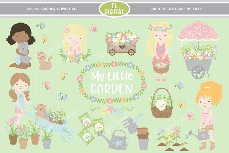 Spring Garden Clipart Set - 93 PNG Graphics - Girls Clipart