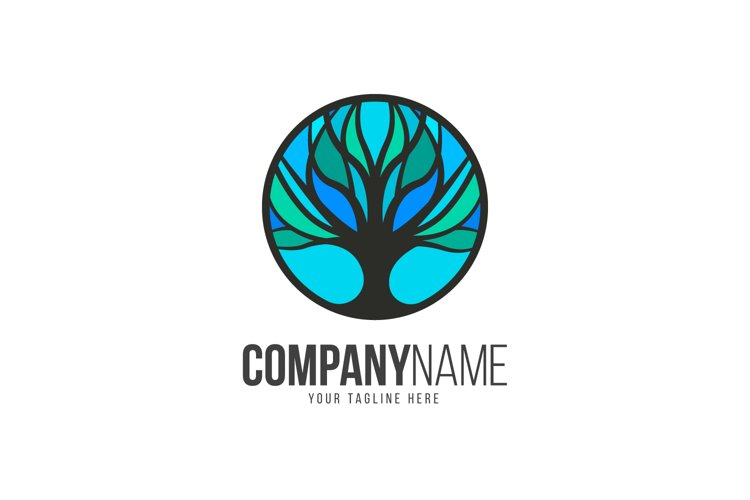 Tree Blue Logo example image 1
