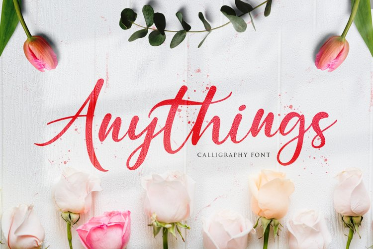 Anythings - Modern Calligraphy Font example image 1