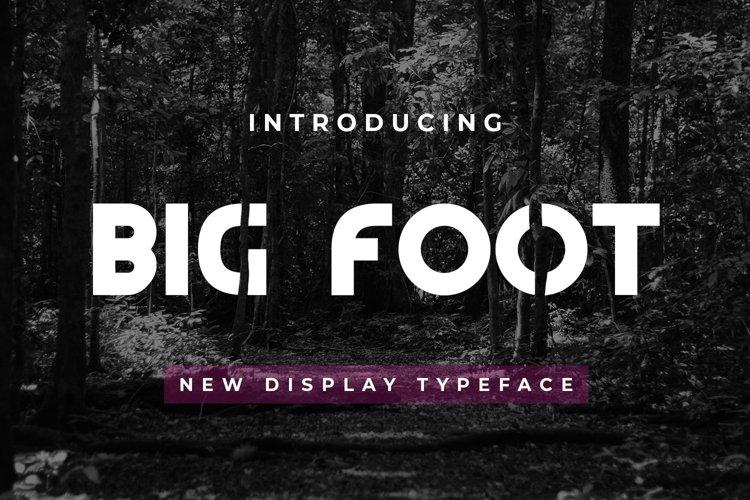 Web Font Big Foot example image 1