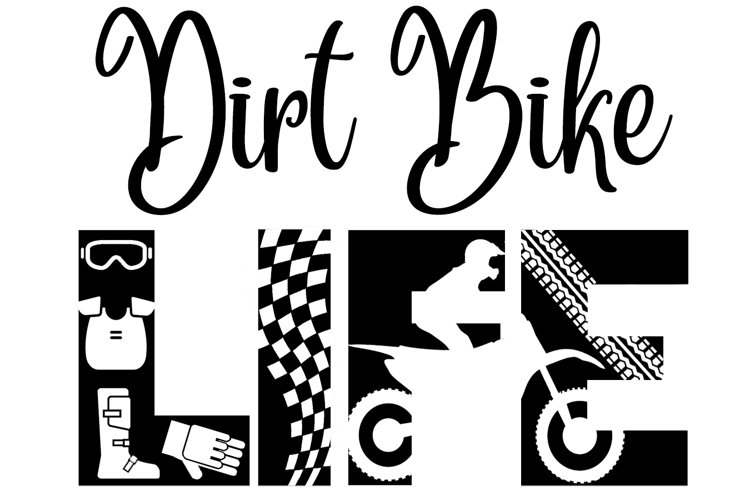 Dirt Bike SVG Cutting File for the Cricut example image 1