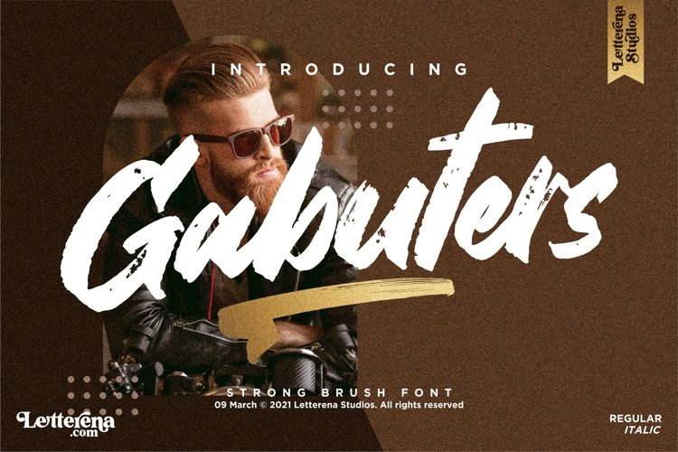 Gabuters - Strong Brush Font example image 1