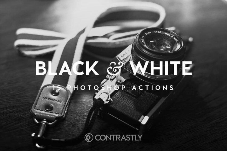 Black & White Photoshop Actions example image 1