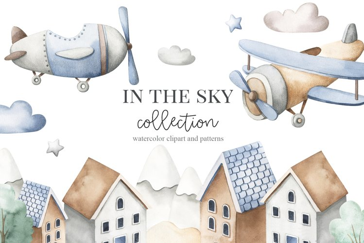In the sky - watercolor set
