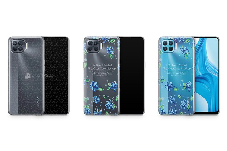 Oppo Reno 4 Lite 2020 TPU Clear Case Mockup example image 1