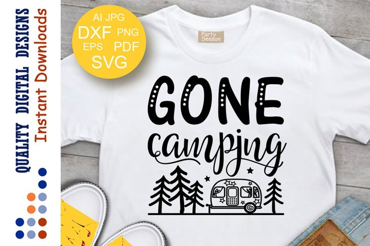 Gone camping svg Camper SVG Trailer clipart Cut files Cricut example image 1