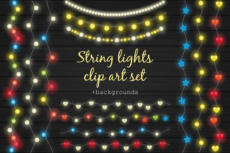 String lights clip art set example image 1
